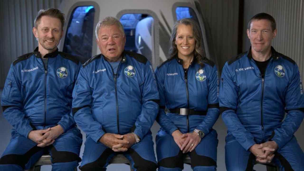 Il Capitano Kirk nello spazio (Foto IlMessaggero)
