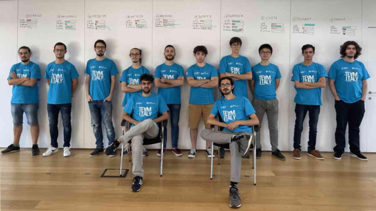 Il team Italia di hacker etici (Foto Ansa)