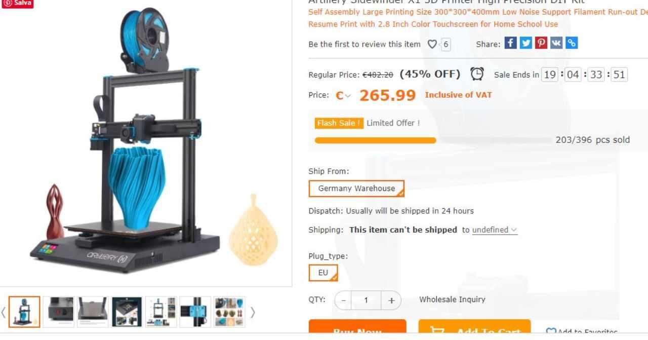 Non perdere il momento, ora le stampanti 3D sono a un prezzo bassissimo
